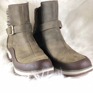 Merrell Shoes - ☔️Merrell Olive Brown Leather Waterproof Boot W8.5